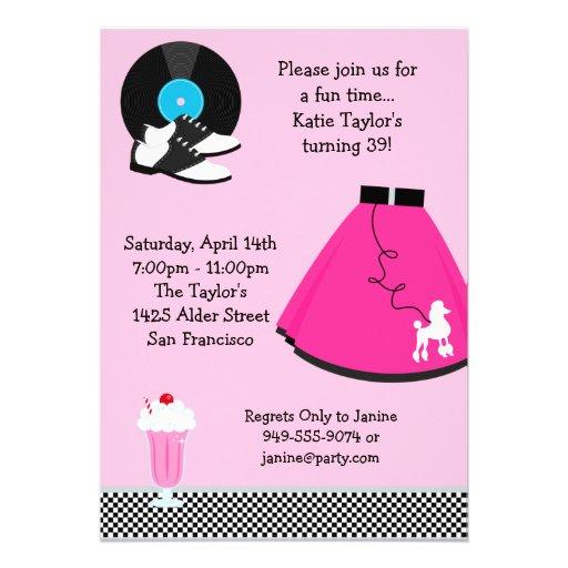 50's Party Invitation