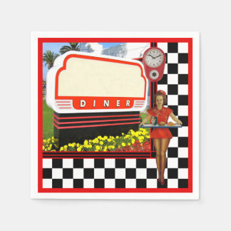 50s Retro Diner Disposable Napkin