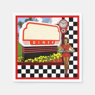 50s Retro Diner Paper Napkin