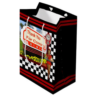 50s Retro Diner Thank You Medium Gift Bag