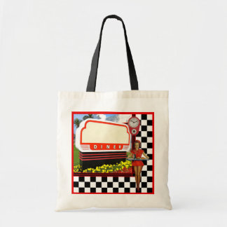 50s Retro Diner Tote Bag