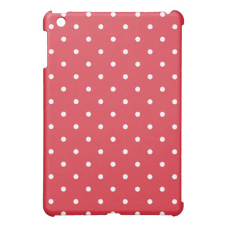 50's Style Polka Dot iPad Mini Case - Poppy Red