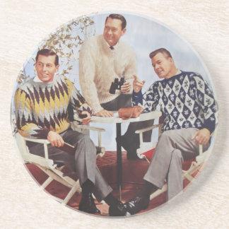 50's Sweater Guys Beverage Coaster