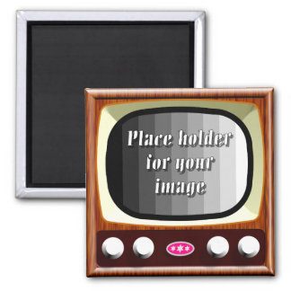 50s Television Template Refrigerator Magnets