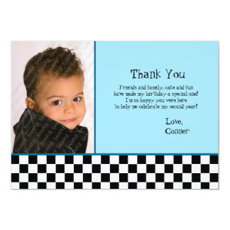 50's Thank You Photo Card 13 Cm X 18 Cm Invitation Card