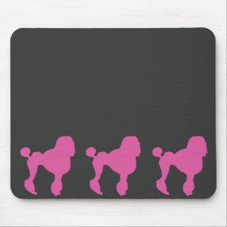 50s Vintage Pink Felt Poodle Mouse Pad