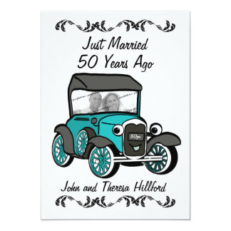 50th Anniversary Antique Car Card