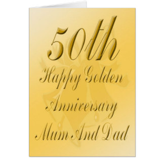 50th Anniversary Card For Mum And Dad