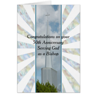 50th Anniversary Card Serving God
