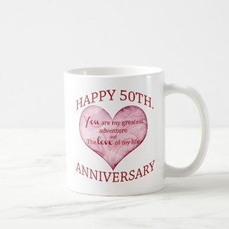 50th. Anniversary Coffee Mug