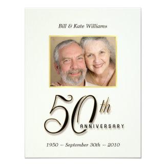 50th Anniversary - Contemporary Photo Invitations