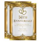50th Anniversary Elegant Gold White Pearl Golden Card