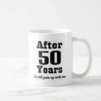 50th Anniversary (Funny) Basic White Mug