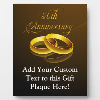 50th Anniversary | Gold Script Plaque