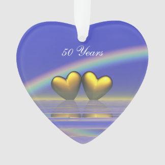 50th Anniversary Golden Hearts Ornament