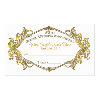 50th anniversary guest table card, Golden Coupl... Pack Of Standard Business Cards