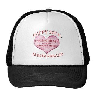 50th. Anniversary Mesh Hats