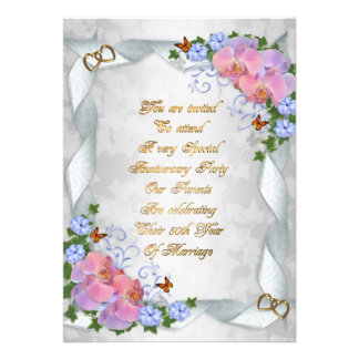 36th Wedding Anniversary Gift Ideas For Parents : 50th Anniversary invitation for parents