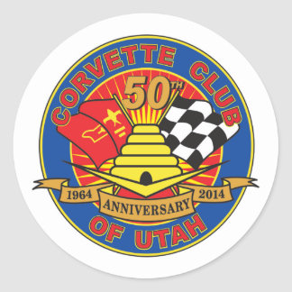50th Anniversary Logo Stickers