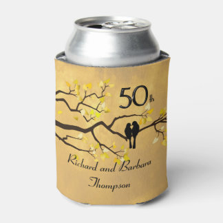 50th Anniversary Lovebirds Personalized Can Cooler