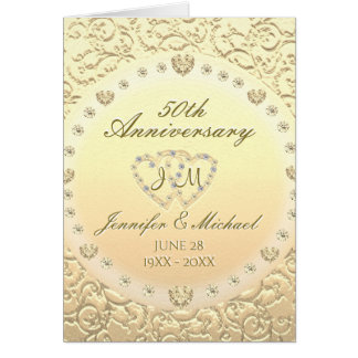 50th Anniversary Monogram Card