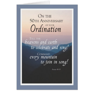 50th Anniversary of Ordination Congratulations Card