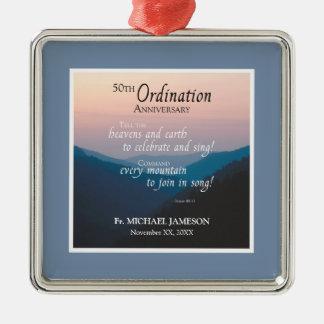 50th Anniversary of Ordination Congratulations Metal Ornament