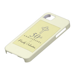 50th Anniversary of Priest with Embossed Cross Case For The iPhone 5
