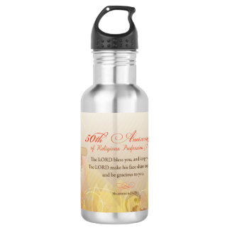 50th Anniversary of Religious Profession, Nun 532 Ml Water Bottle
