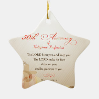 50th Anniversary of Religious Profession, Nun Gol Ceramic Ornament