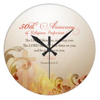 50th Anniversary of Religious Profession, Nun Large Clock