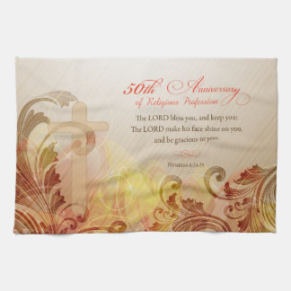 50th Anniversary of Religious Profession, Nun Tea Towel