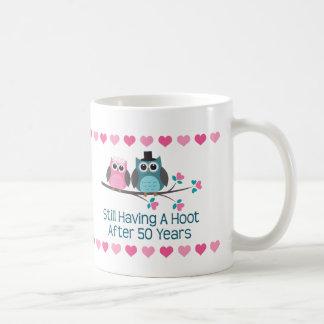 50th Anniversary Owl Couple Mug