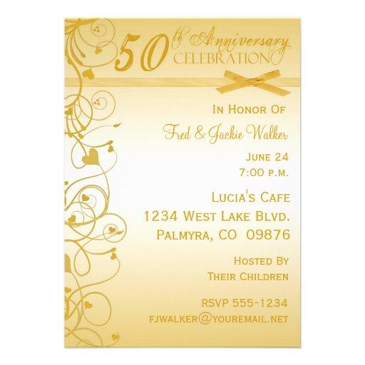50th Anniversary Party Invitations