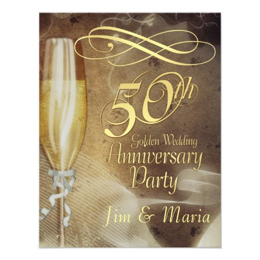 Th anniversary party rsvp reply cards invitations zazzle