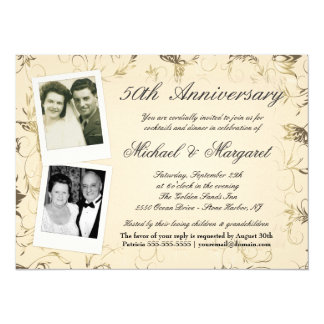 50th Anniversary - Photo Invitations - Then & Now