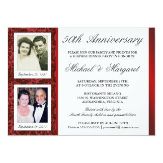 50th Anniversary - Photo Invitations - Then & Now