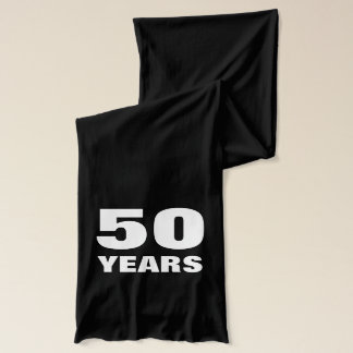 50th Anniversary scarf | Celebrate Fifty Years