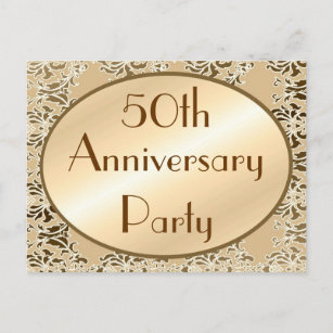 50th anniversary invitation postcards zazzle 50th anniversary vintage invitation postcards stopboris Images