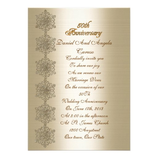 50th Anniversary Vow Renewal Invitation
