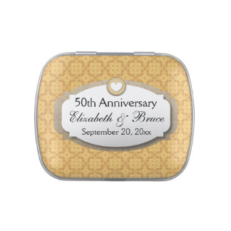 50th Anniversary Wedding Anniversary Gold Z05 Candy Tin