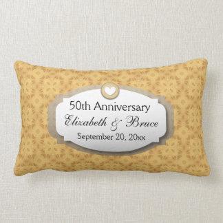50th Anniversary Wedding Anniversary Gold Z05 Lumbar Pillow