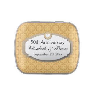 50th Anniversary Wedding Anniversary Gold Z05 Candy Tin