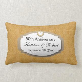 50th Anniversary Wedding Anniversary Gold Z10 Lumbar Pillow