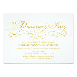 50th Anniversary | White/Gold Card