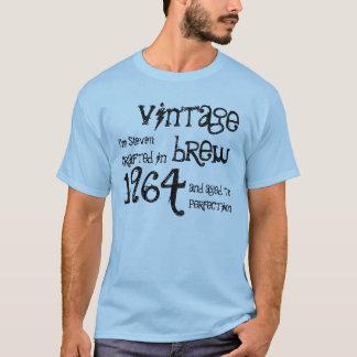 50th Birthday 1964 Vintage Brew Blue and Black T-Shirt