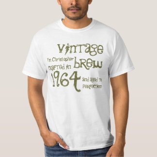 50th Birthday 1964 Vintage Brew White and Olive T-Shirt
