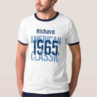 50th Birthday 1965 American Classic Blue White v2A T-Shirt