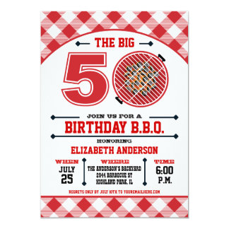 50th Birthday Barbecue Invitation