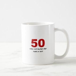 50th Birthday Basic White Mug